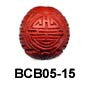 15mm Longevity Cinnabar Bead BCB05-15