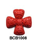 Cross Cinnabar Bead BCB1008