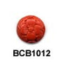 Flower Disc Cinnabar Bead BCB1012