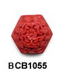 Hexagon Cinnabar Bead BCB1055