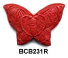 Butterfly Cinnabar Bead BCB231 - 3 Colors