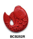 Fish Cinnabar Bead BCB252 - 2 Colors
