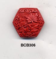Hexagon Cinnabar Bead BCB306