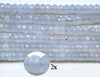 5mm Lavender Chalcedony Faceted Roundells