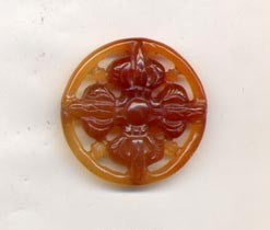 Carnelian Double Dorje Wheel Bead BCN452D
