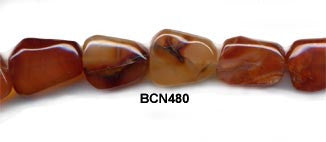 Dark Carnelian Pebble Beads BCN480