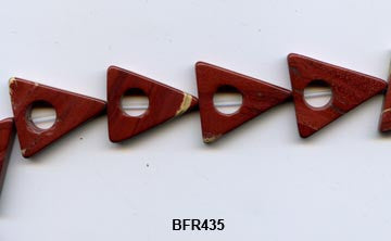 Flower Jasper Triangle Beads BFR435