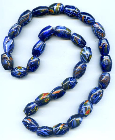 Cobalt Blue Bi-Cone Glass Bead BGH731