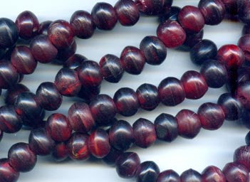 Red Horn Semi-Round Bead BHN412R