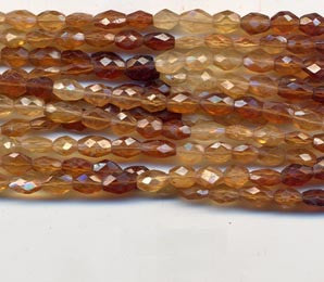 Brown Hessonite Faceted Oval Beads BHXMF408C