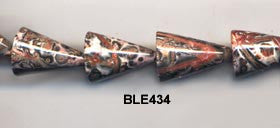 Leopard Skin Cone Beads BLE434