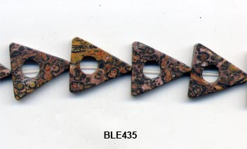 Leopard Skin Triangle Beads BLE435