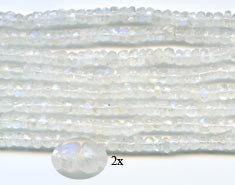 5mm Rainbow Moonstone Faceted Roundells