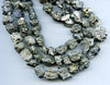Pyrite & Quartz Small Nugget Bead Strand BMRR620A