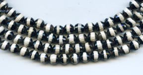 6mm Black & White Agate
