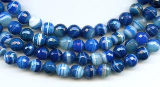 8mm Blue Agate