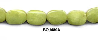 Olive Jade Pebble Beads BOJ480A