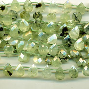 Prehnite Faceted Briolettes BPHF6412