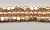Peach Pearl Nugget Beads Strand BPL158PE