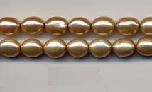 Champagne Pearl Rice Shaped Beads Strand  BPL201CP