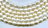 Natural White Oval Pearl Beads Strand BPL201WH