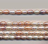 Multi Color Pearl Rice Shaped Beads Strand BPL203