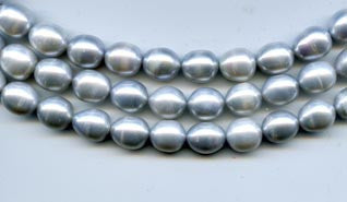 Light Silver Pearl Beads Strand BPL206SL