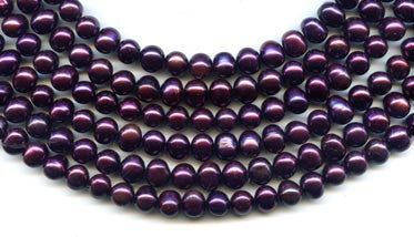 Purple Pearl Beads Strand BPL3013GT