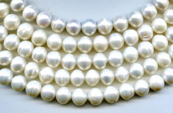 Classic Natural White Pearl Beads Strand BPL3013WH