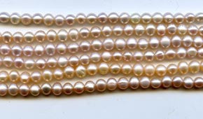 Mauve Pearl Rice Shaped Beads Strand BPL3029ML
