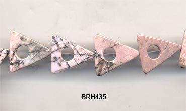 Rhondenite Triangle Beads BRH435