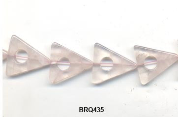 Rose Quartz Triangle Beads BRQ435