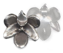 Thai Hill Tribe Silver Flower Pendant BST765M