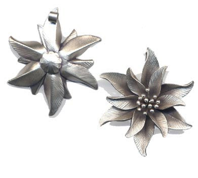 Thai Hill Tribe Silver Flower Pendant BST7681