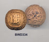 Yellow Willow Buddha and Luck Word Bead BWD334
