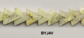 Yellow Jade V Beads BYJ4V