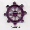 Ship Wheel Amethyst Pendant Bead DAM835