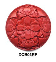 Flower Cinnabar Bead DCB03 - 2 Colors