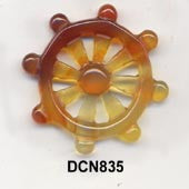 Ship Wheel Carnelian Pendant Bead DCN835