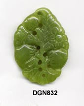 Peach Blossom Southern Jade Pendant Bead DGN832