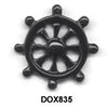Ship Wheel Black Onyx Pendant Bead DOX835
