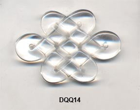 Eternal Knot Crystal Pendant Bead DQQ14
