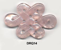 Eternal Knot Rose Quartz Pendant Bead DRQ14