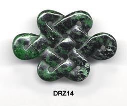 Eternal Knot Ruby Zoisite Pendant Bead DRZ14