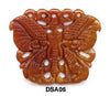 Brown Jade Butterfly Pendant Bead DSA06