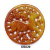 Brown Jade Deer Round Pendant Bead DSA27