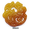 Brown Jade Prosperity Fu Pendant Bead DSA43