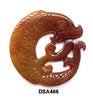 Brown Jade Coiled Carp Pendant Bead DSA466