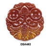 Brown Jade Double Butterfly Round Pendant Bead DSA482