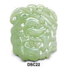 Green Soo Chow Jade Bird in a Tree Pendant Bead DSC22